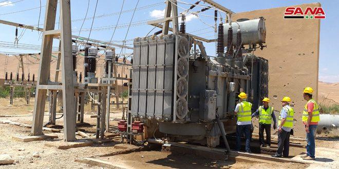 بازسازی ایستگاه تبدیل برق پالمیرا به پایان رسید 