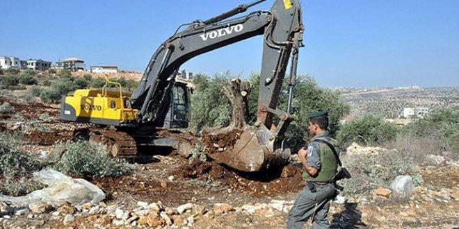 کرانه غربی: یورش اشغالگر صهیونیست به روستاى عوريف در جنوب نابلس