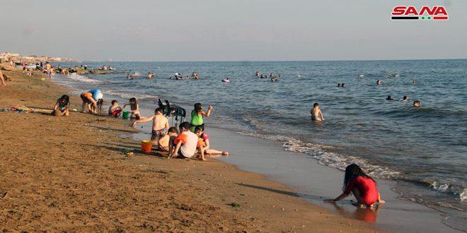 بازگشایی مخیم الکرنک در ساحل احلام طرطوس