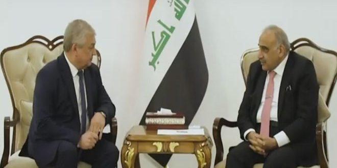 عبد المهدی با لاورنتیف تحولات سوریه را بحث وگفتگو کرد