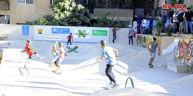 افتتاح اولین اسکیت پارک برای کودکان در سوریه