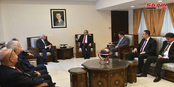 دمشق: دیدار دکتر فیصل مقداد با هیات کمیته اجرایی سازمان آزادی بخش فلسطین
