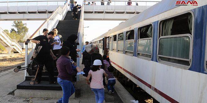 تردد 34 قطار مسافربری روزانه بين شهر دمشق و نمایشگاه بین المللی آن