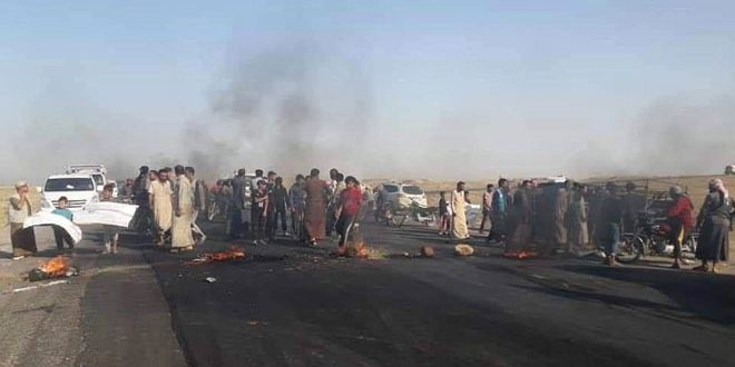 تظاهرات علیه شبه نظامیان «قسد» در شمال دیر الزور