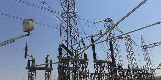 یک میلیارد و 100 میلیون لیر برای بازسازی شبکه های برق رسانی حومه شرقی حماه هزینه شد