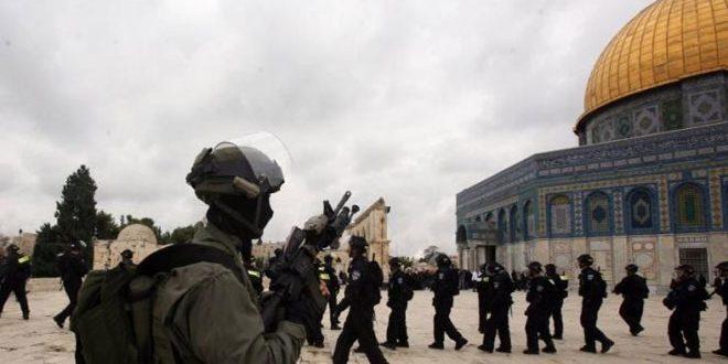 """بازداشت 4 نفر فلسطینی در مسجد الاقصی توسط نیروهای اشغالگر """"اسرائیل"""""""
