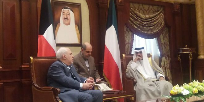 بررسی اوضاع در منطقه خلیج در دیدار ولیعهد و وزیر امور خارجه کویت با ظریف