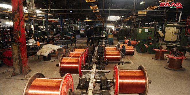 شرکت  کابلهای دمشق با تولید ۱۲۰۰ نوع کابل نیاز های بازار محلی را پوشش داده است