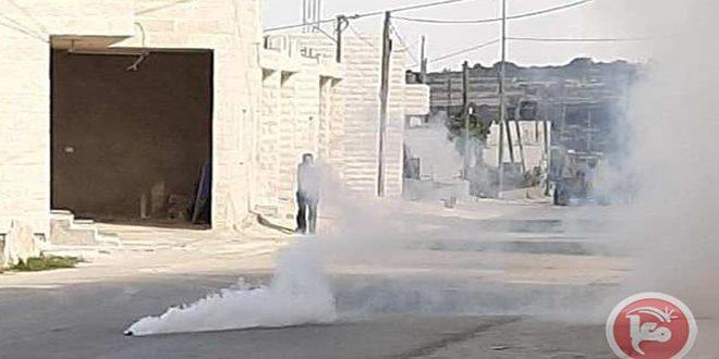 کرانه غربی: جراحت تعدادی از فلسطینی ها در یورش اشغالگر به شهرک بیت امر