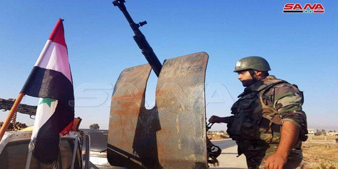 ورود ارتش عربی سوریه به شهرک تل تمر در حومه حسکه به قصد مقابله با تجاوزات رژیم ترکیه