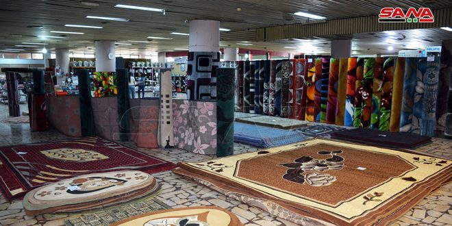 نمایشگاه تخصصی فرش وبخاری ها در مجتمع تجاری افامیا در شهر لاذقیه