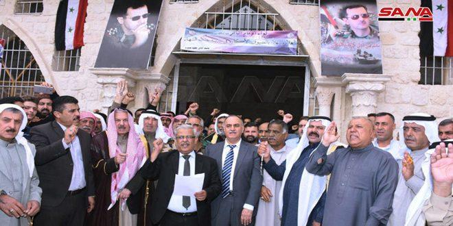 تجمع عشایر بکاره تهاجم رژیم ترکیه علیه خاک سوریه را محکوم می کند