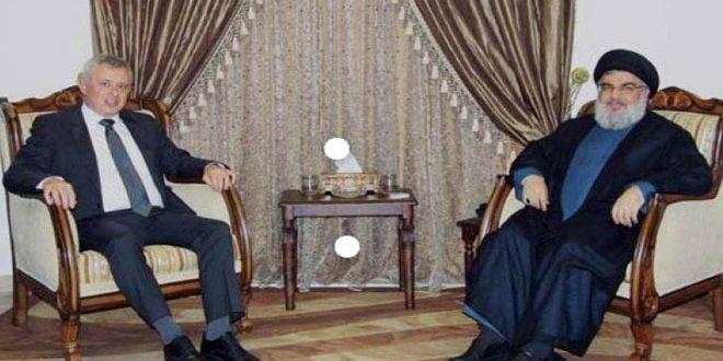 نصرالله وفرنجیه: لزوم هماهنگی بین سوریه ولبنان