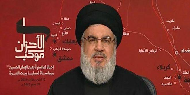 سید حسن نصرالله: همه لبنانی ها باید در برابر این شرایط خطرناک و مهم که کشور با آن مواجه است، مسئولیتپذیر باشند
