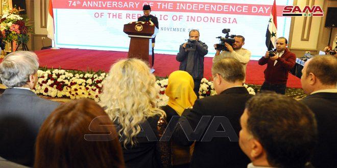 تاکید سفیر اندونزی در دمشق بر لزوم تحکیم روابط با سوریه