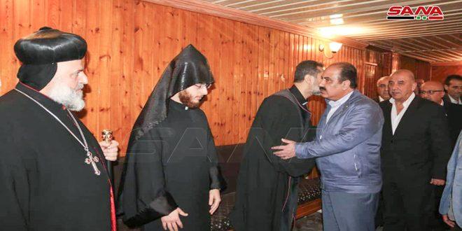مهندس هلال الهلال به دستور رئیس جمهور دکتر بشار اسد شهادت هوسيب حنا بيدو و پدرش را تسلیت گفت