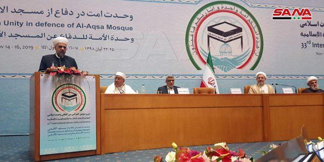 وزیر اوقاف کشورمان: قدس فلسطین و وحدت اسلامی موضوعات اصلی سوریه است