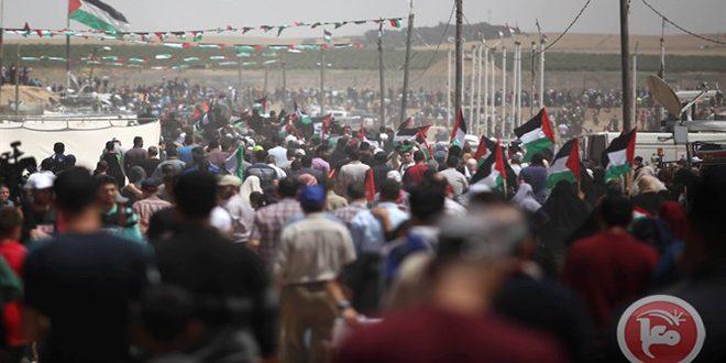 آمادگی فلسطینیان برای حضور در راهپیمایی بازگشت تحت عنوان «فلسطین ما را متحد میسازد و قدس پایتخت ماست»