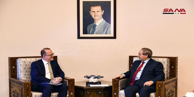 بررسی راه های تقویت هماهنگی و همکاری بین دولت سوریه و یونیسف توسط المقداد با شیبان