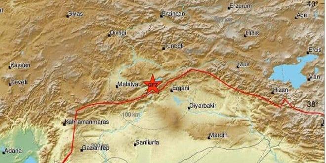 وقوع زلزله 6.9 ریشتری در شرق ترکیه / مردم مناطقی از سوریه نیز این زلزله را حس کردهاند