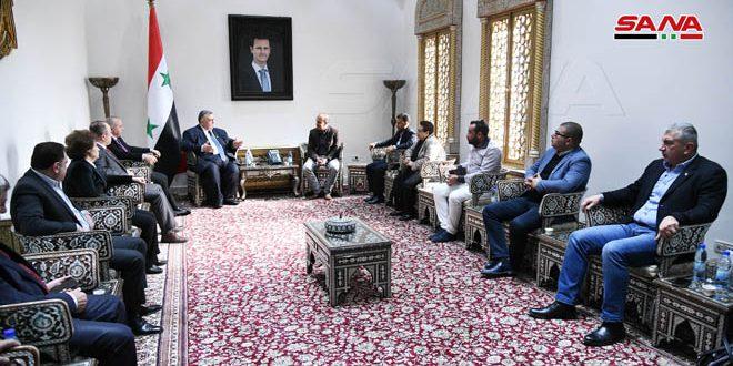 صباغ به هیئت جوانان مراکشی: سوریه به آگاهی مردم جهان عرب ومواضع ملی آنان چشم دوخته است