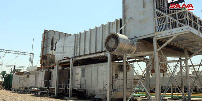 واحد گازی دوم نیروگاه التیم در حومه دیر الزور به بهره برداری رسید