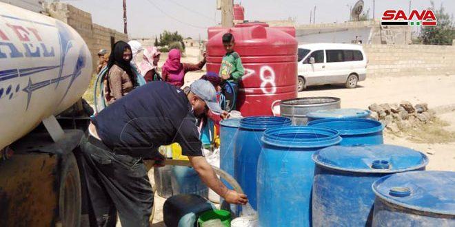 صدها هزار غیر نظامی در حسکه از کمبود آب آشامیدنی به دلیل اشغال ایستگاه پمپاژ آب علوک توسط ترکیه رنج میبرند