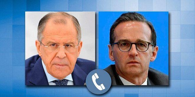 تماس تلفنی لاوروف و ماس درباره اقدامات اقتصادی اجباری علیه سوریه