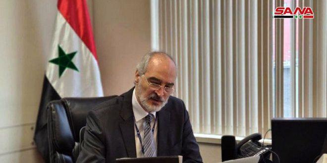 الجعفری: سوریه از شورای امنیت می خواهد پیش نویس قطعنامه ای را تصویب کند که کشورهای عضو را ملزم به همکاری در ریشه کن کردن پدیده تروریست های خارجی می کند و کشورهای مربوطه را مجبور می کند تروریست های خود را پس بگیرند