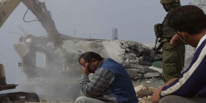 کرانه باختری: تخریب بیش از 500 منزل فلسطینی طی نه ماه گذشته از سوی نیروهای اشغالگر
