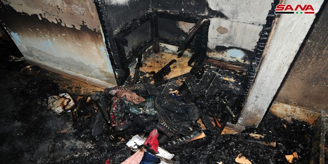 آتش سوزی خوابگاه دانشجویی دانشگاه دمشق خاموش شد