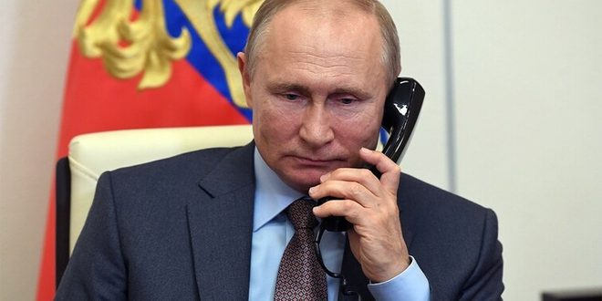 پوتین در تماس تلفنی با علیاف و پاشینیان وضعیت قرهباغ را بررسی کرد