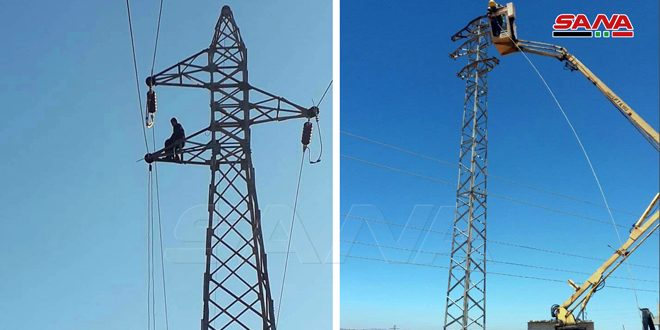 برق استان قنیطره وصل شد