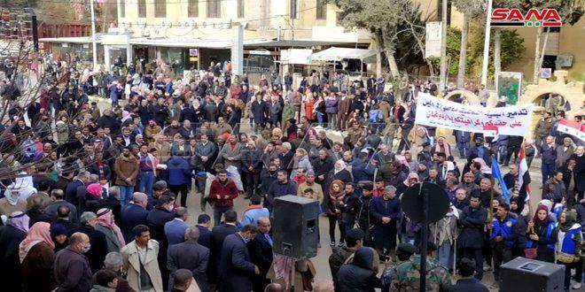 اعتراض اهالی حسکه به قطع مجدد آب آشامیدنی حسکه توسط رژیم ترکیه و مزدوران آن