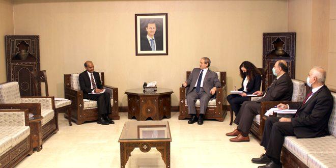 تقدیر فیصل المقداد از دولت هند به خاطر مواضع آن در حمایت از سوریه در جنگ علیه تروریسم