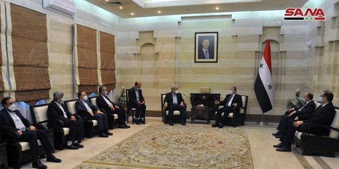 دیدار مهندس حسین عرنوس با معاون رئیس ایران