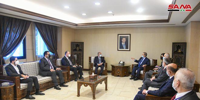دیدار مقداد با وزیر مشرفیه در دمشق