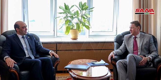 دیدار معاون وزیر خارجه بلاروس با سفیر کشورمان در مینسک