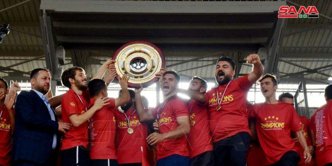 تیم تشرین رسما به کسب عنوان قهرمانی لیگ برتر فوتبال فصل 2020-2021 موفق شد