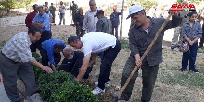 برای سومین جمعه متوالی، برگزاری کمپین روز کار داوطلبانه در استان دمشق