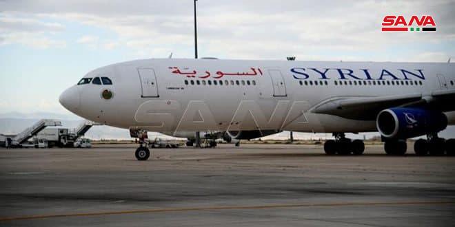 ازسرگیری پروازهای شرکت هواپیمایی سوریه به ابوظبی