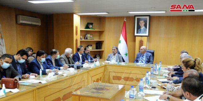 مذاکرات سوریه و ایران برای تسریع اجرای توافقنامه های همکاری اقتصادی و تبادل تجاری