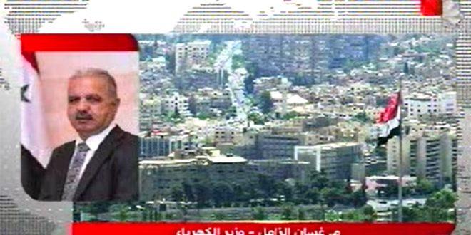 وزیر برق : قطع برق دمشق بر اثر حمله به یک خط انتقال گاز در ایستگاه دیرعلی