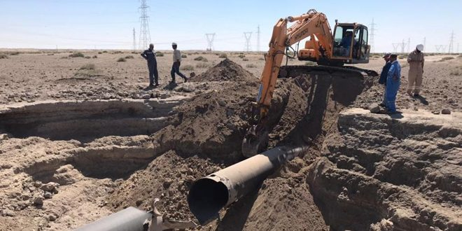 وزارت نفت: عملیات تعمیر خط گاز العربی شروع شد