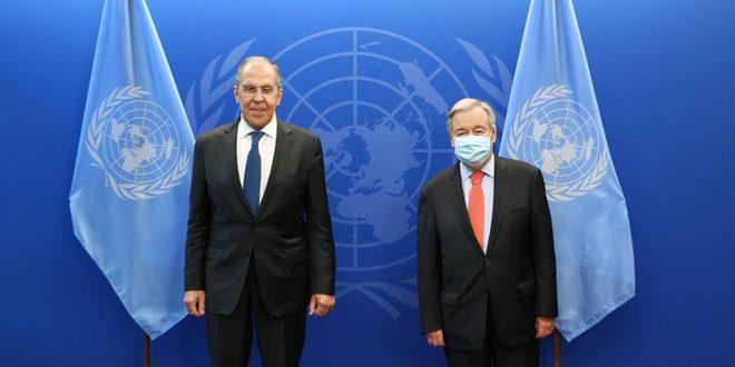 بررسی اوضاع افغانستان، سوریه و لیبی؛ در دیدار لاوروف و گوترش
