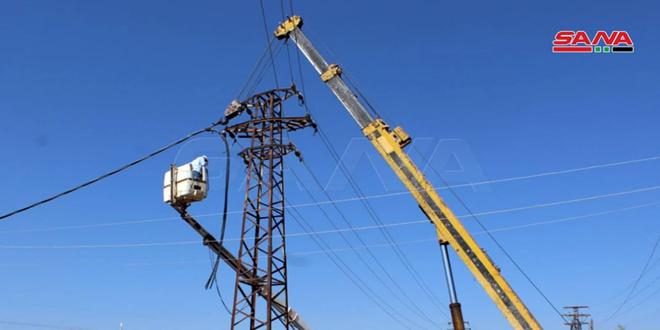90 درصد خطوط اصلی برق درعا تکمیل شد