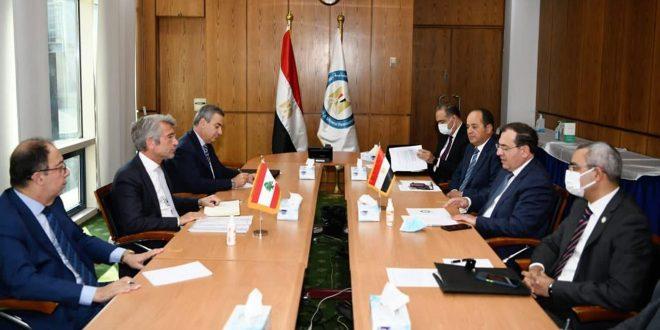 مصر و لبنان پیگیری روند رساندن گاز مصر به لبنان را بررسی کردند