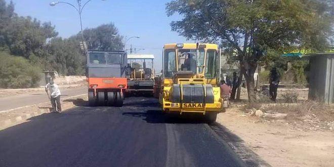 اتمام عملیات اجرایی بهسازی جاده طفس -المزیریب