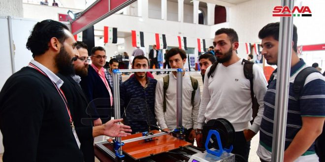 ارائه 276 پروژه ی کاری در نمایشگاه (الباسل) در دمشق
