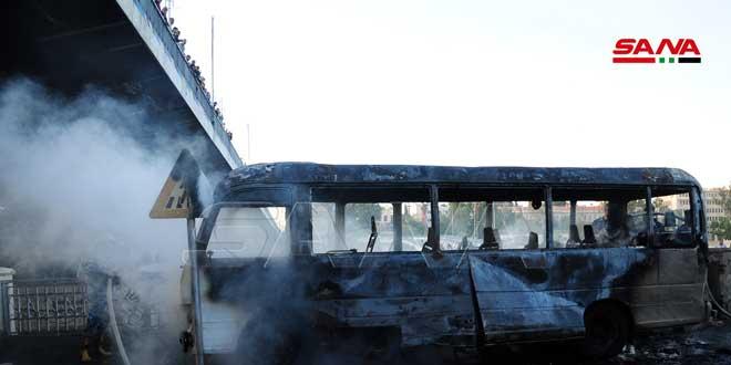 ادامه محکومیت انفجار تروریستی در دمشق